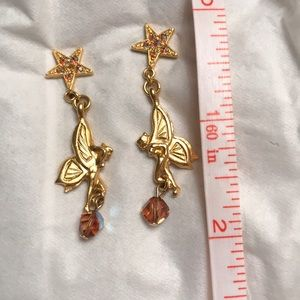 Earrings-fairies, crystals and crystal stars